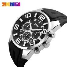 SKMEI Top luksusowa marka zegarki kwarcowe moda męska casualowe zegarki na rękę wodoodporny zegarek sportowy Relogio Masculino 9128