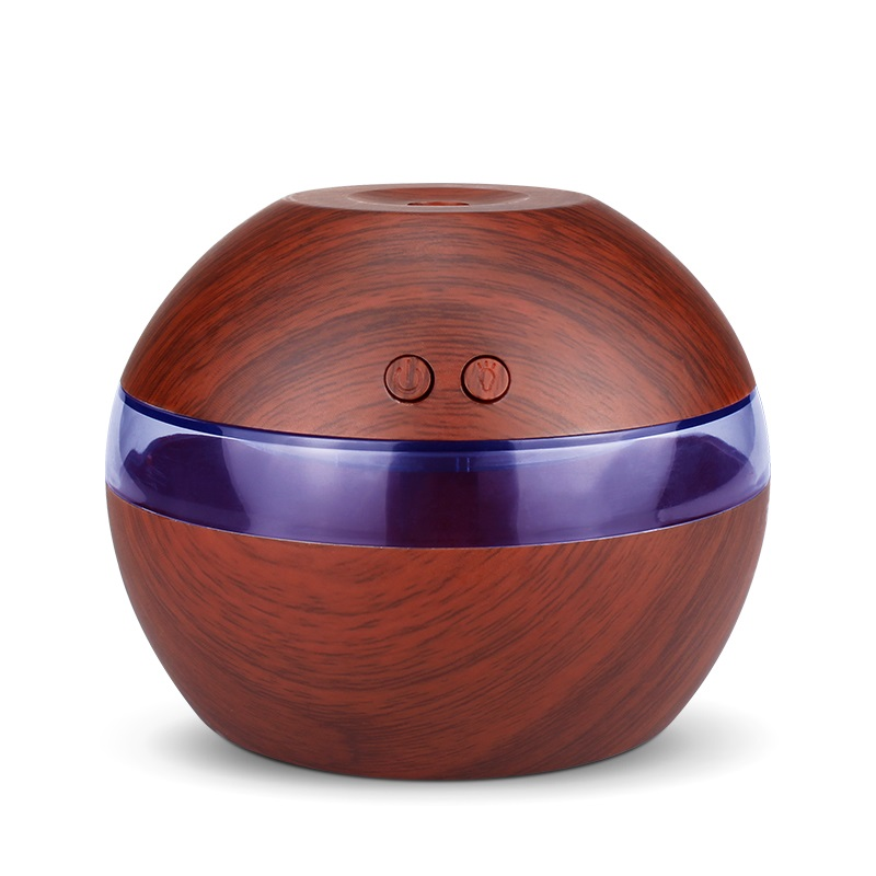290ml USB Mini  Humidifier Aroma Diffuser Essential Oil Diffuser Aromatherapy Mist Maker With 1 Color LED Light Wood Grain