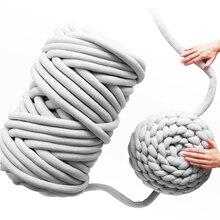 500g 49 дюймов плотная объемная рука Вязание Шерсть-ровинг Одеяло большой мягкой толстой шерстяной пряжи прядения пряжи для вязания крючком/к...