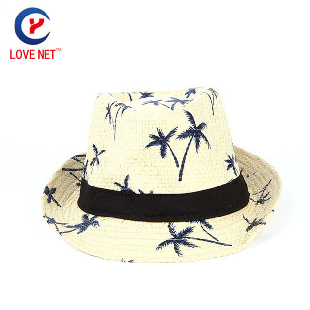 Nuevo Casual hombres adultos ala ancha sombreros impresión varios tipos caqui  hombres guapo sombreros de paja f50e08742b2