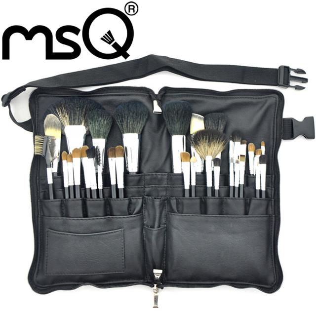 Atacado 20 jogos/lote MSQ Pro 32 pcs Pincel de Maquiagem Definir Pêlos Com Couro PU Maquiagem Kit Cosméticos Maquiagem Pincel para a Beleza