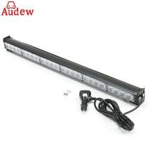 1Pcs 24 LED Super Bright 27″ Car LED Flash Strobe Light Bar  Vehicles Warning Light 12V 24W