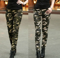 2015 Summer Fashion Women Pants Female Casual Military Denim Trousers Tight Elastic Camouflage Pants h395