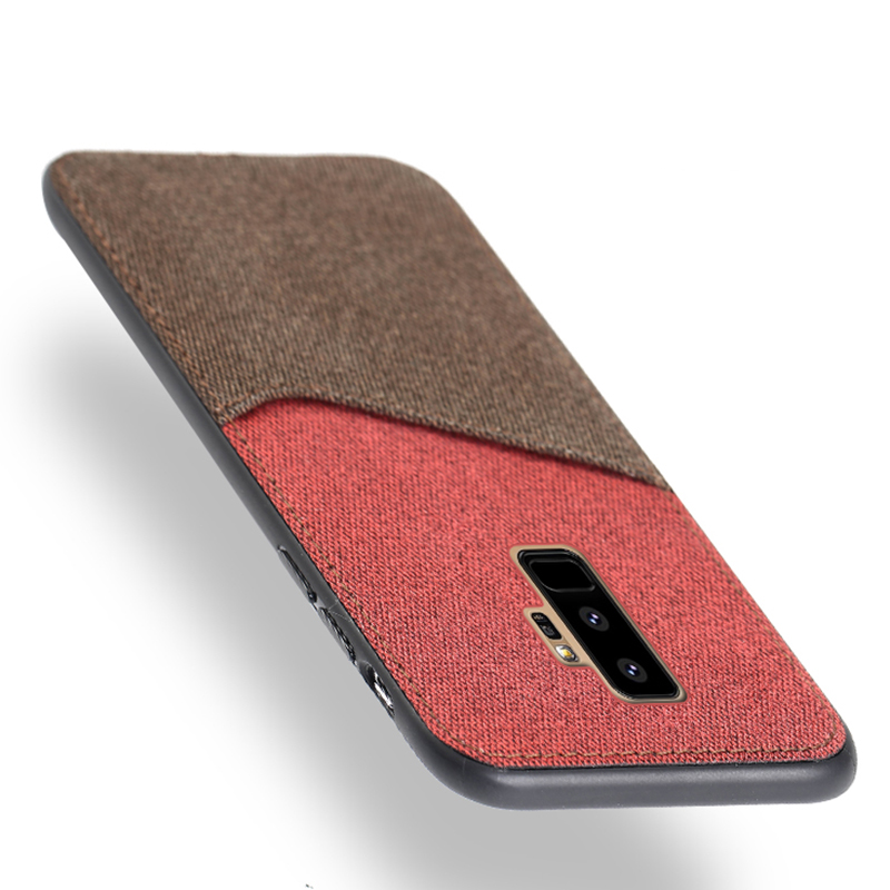 Canvas Phone Case For Samsung Galaxy S8 S9 Plus Note 8 9 S7 Edge A3 A5 A7 J3 J5 J7 2017 A8 2018 Color Stitching Back Cover Case
