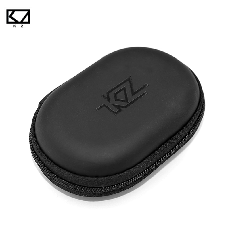 KZ Oval Storage Bag New Headphones PU Zipper Storage Box Case Black Portable Hold Storage Box Suitable For Earphones Data Cable ouhaobin blue portable headphone bag long round hard storage case bag for earphones headphones sd tf cards optional sep14