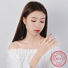 Женское регулируемое кольцо из серебра 925 пробы с черным фианитом