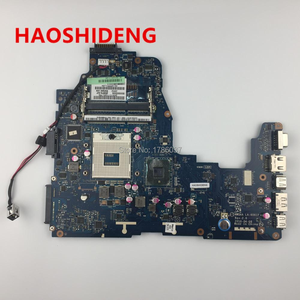 K000104250 LA 6061P for Toshiba Satellite A660 A665 series Laptop Motherboard All functions fully Tested