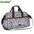 new Colorful plaid baby diaper bag Large-capacity mummy handbag maternity Shoulder bag baby nappy bags on stroller