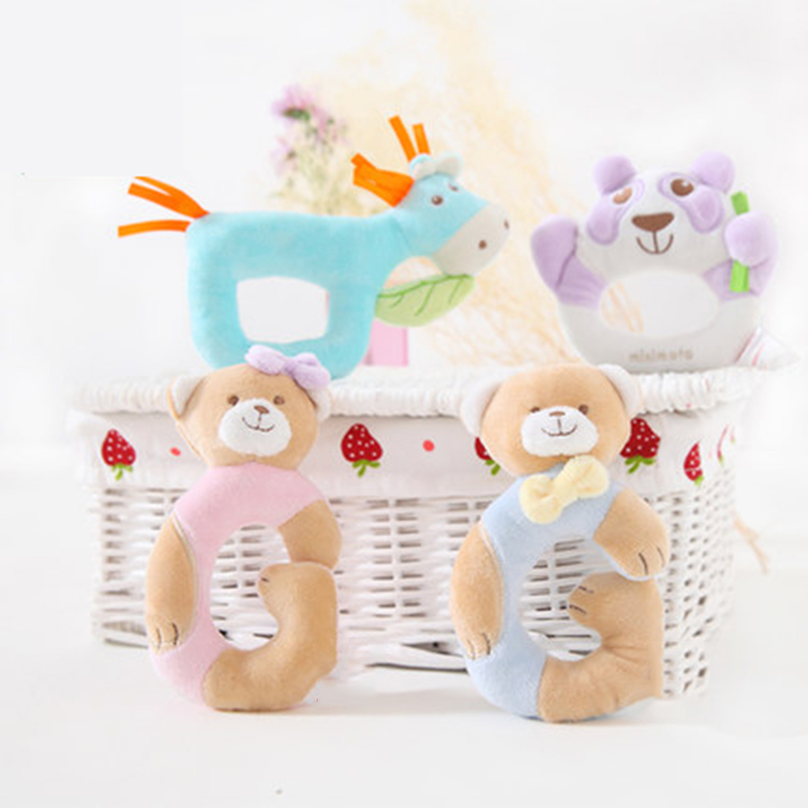 New Hand Bell Baby Infant Rattles Plush Soft Musique Christmas Gifts Toys For Newborn Babies Toy Kids Baby Toys Rattles 50C0582