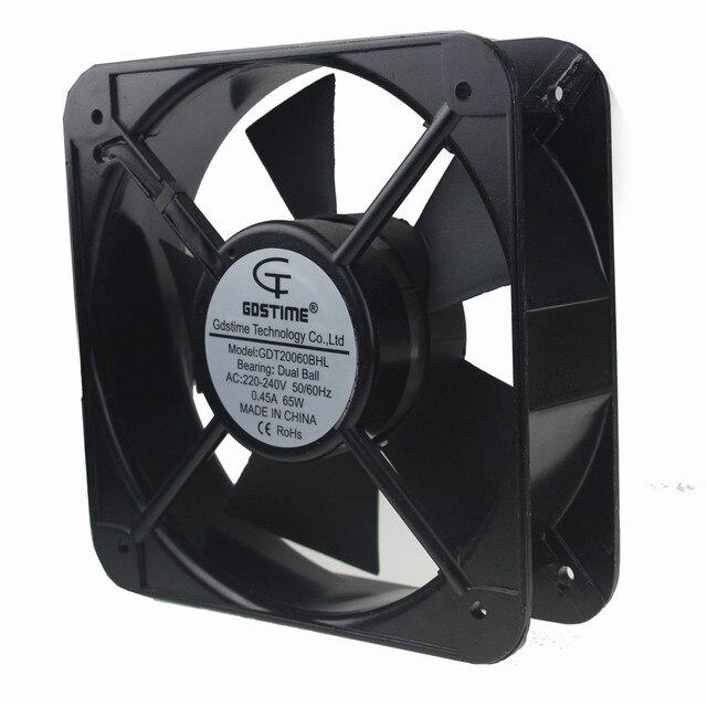 5 UNIDS Gdstime Axial de la CA 220 V 240 V 200*200*60mm 20 cm 20060 Cooler ventilador