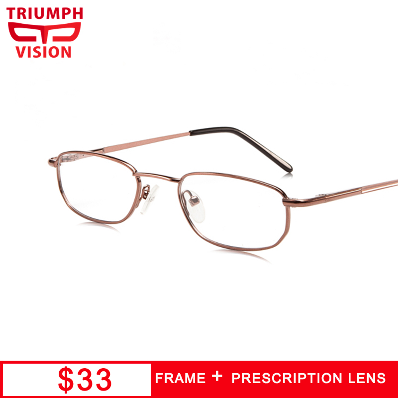 TRIUMPH VISION Oval Reading Glasses Minus Astigmatism Eyewear Prescription Lens Clear Computer Eyeglasses Anit Blue Ray Myopia