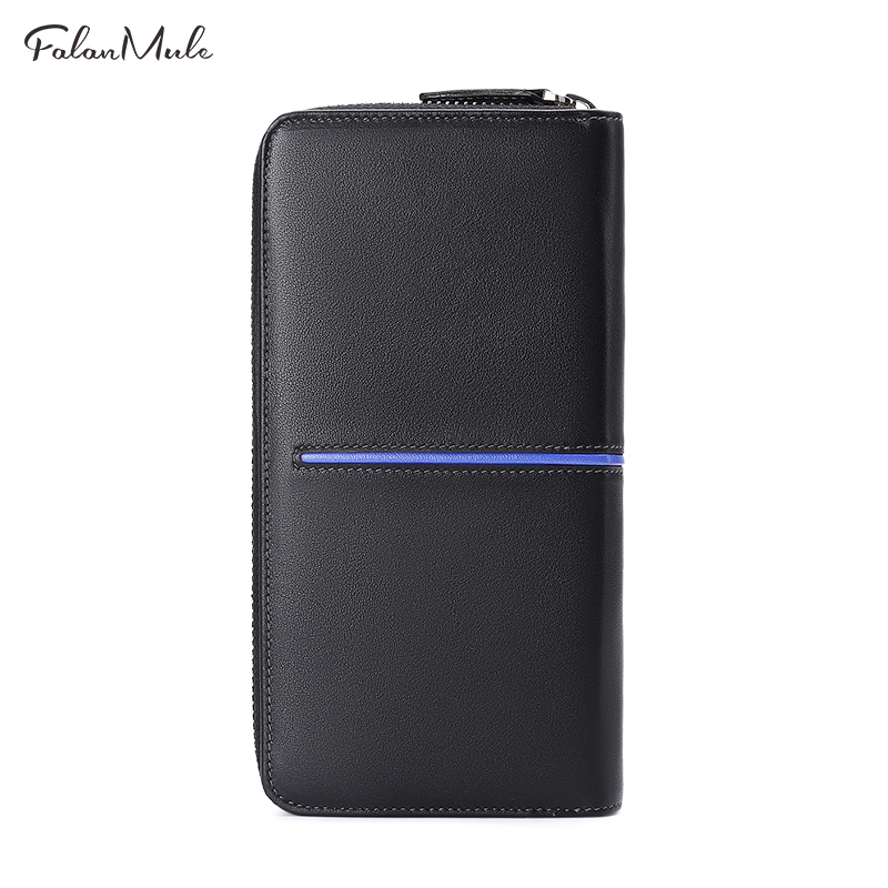 Quality Brand S 2017 Purse Wallet Fashion Genuine Long For Black 7 Leather Luxury Coin Iphone Men New twRZqrw0