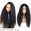 Synthetic Yaki Curl Lace Front Wig Medium Cap Size 24'' Afro Lace frontal Curly Wig Yaki Heat Resistant Fiber Kinky Curl Wig