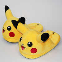 Unisex Anime Cartoon Pikachu Snorlax Eevee Gengar Dolls Slipper Home Cute Warm Slippers Shoes Indoor Bedroom Slides Warm Plush