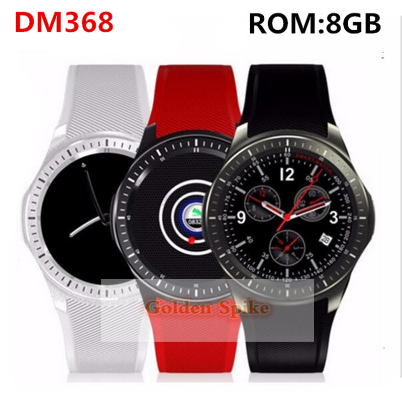 Smart Watch SmartWatch DM368 1.39 AMOLED Display Quad Core Bluetooth4. Heart Rate Monitor WristWatch IOS Android Phones free shipping smart watch c7 smartwatch 1 22 waterproof ip67 wristwatch bluetooth 4 0 siri gsm heart rate monitor ios