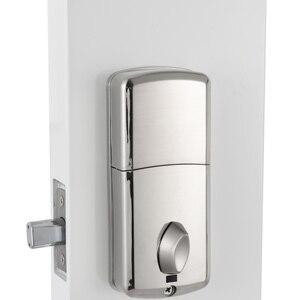 Image 2 - 安いスマートホームデジタルドアロック、防水インテリジェントキーレスパスワードステンレスピンコードドアロック電子デッドボルトロック