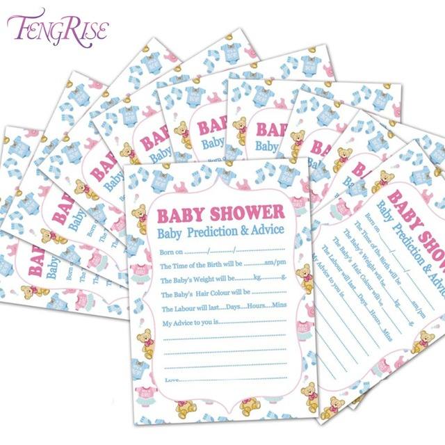 Fengrise Mom To Be Baby Shower Games Cards Baby Shower Prediction