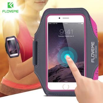 371e591e5fe FLOVEME brazalete deportivo para el iPhone 6 6 S 7 Universal Running Gym  del deporte para el iPhone 7 6 6 S 4,7 pulgadas corriendo bolsa