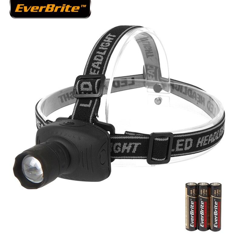 Everbrite-farben Led Beleuchtung Kopf Lampe Fokus Led Kopf Lampe 1 W 3aaa Batterien Guter Geschmack Tragbare Beleuchtung