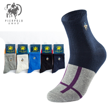 Autumn new PIER POLO cotton men tube stockings wide mouth color fight business socks wholesale