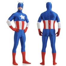 infinity avengers Halloween Christmas party cosplay costumes captain America hero tight stage acting clothing lycra zentai