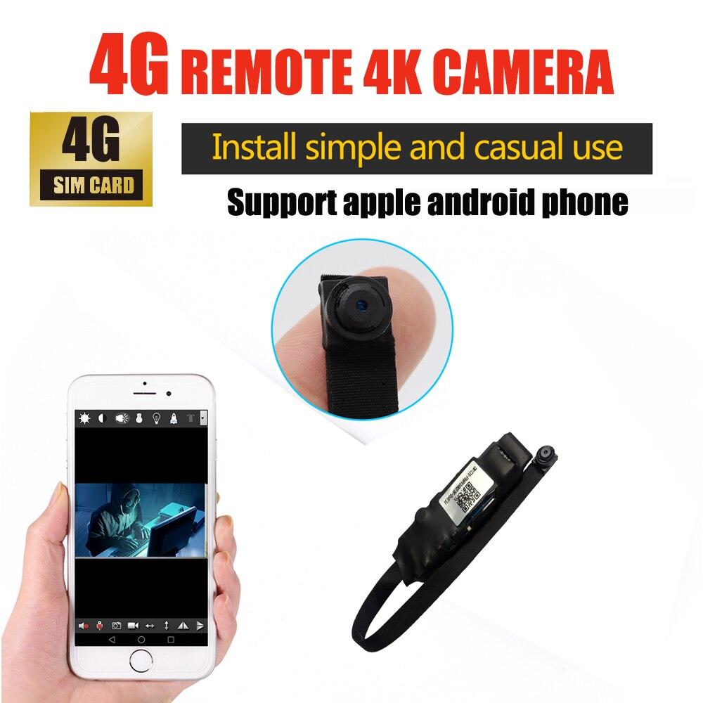Smarcent S58a 4G télécommande 4 K mini caméra HD 1080 P sans fil camara installer une utilisation décontracté prend en charge le téléphone apple et android