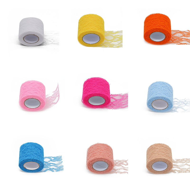 10 Yard Lace Roll Tulle Roll Spool Netting Fabric Tutu Skirt Chair Sash Bow Table Runner Lace Fabric Wedding Party Decorations