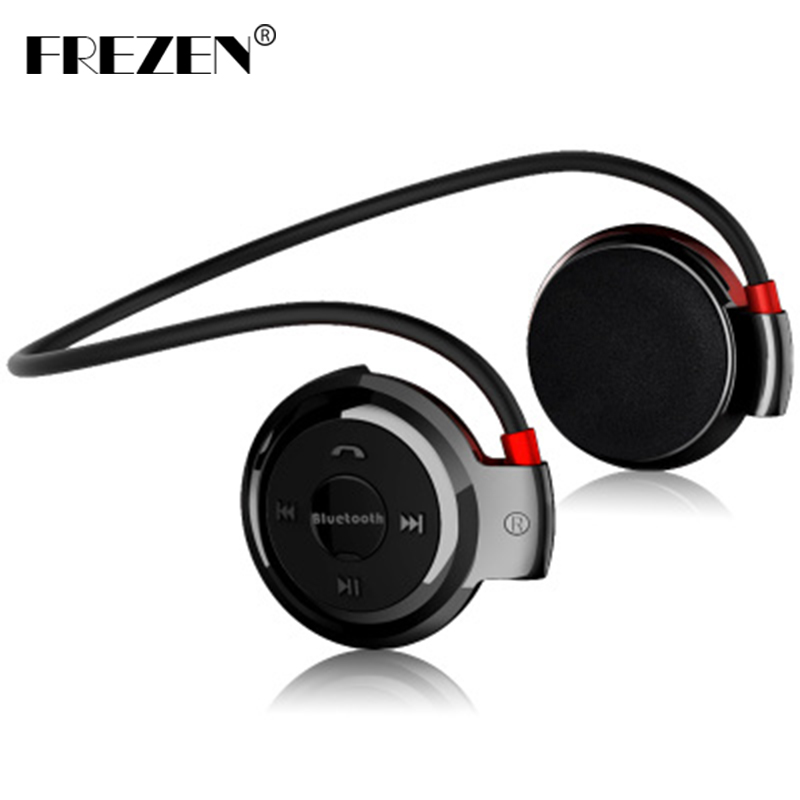 FREZEN Wireless Bluetooth Headphones Mini 503 Fm Radio Headphone Sport Music Stereo Earpics Micro SD Card Slot headset mini503 original f5 sports bluetooth headset sd card slot auriculares music headphones mic ipx4 wireless earphones fm radio mp3 player