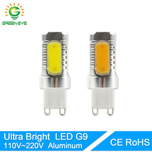 GreenEye Ultra Bright LED Bulb G9 12W 110V 220V COB Light Lamp Crystal Chandelier Spotlight Replace Halogen Ampoule Lampara LED