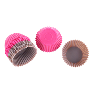 Image 5 - Mini moldes de silicona para cupcakes, herramientas de silicona para Tartas, magdalenas, 12 unids/lote