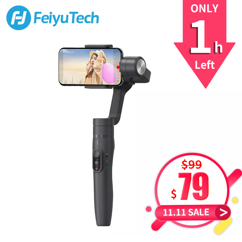 FeiyuTech Vimble 2 Feiyu 3-Axis Handheld Smartphone Gimbal Stabilizer with 183mm Pole Tripod for iPhone X 8 7 XIAOMI Samsung цены