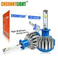 CNSUNNYLIGHT H1 LED 자동차 헤드 라이트 전구 60/설정 8000LM 6000 천개 화이트 자동 안개 램프 자동차 주요 헤드 Foglight 12 볼트 24 볼트