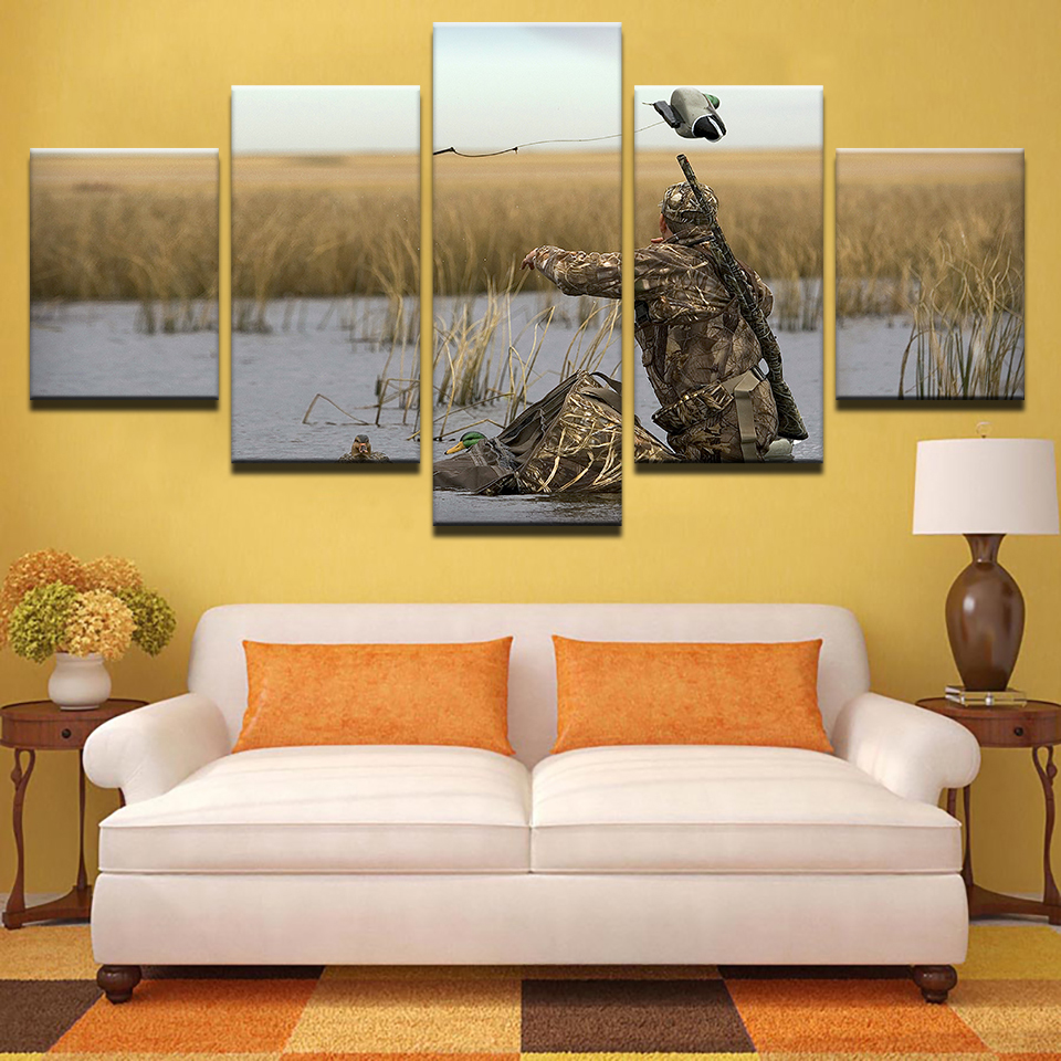 Frame Pictures Vintage Home Decoration Paintings On Canvas 5 Panel ...