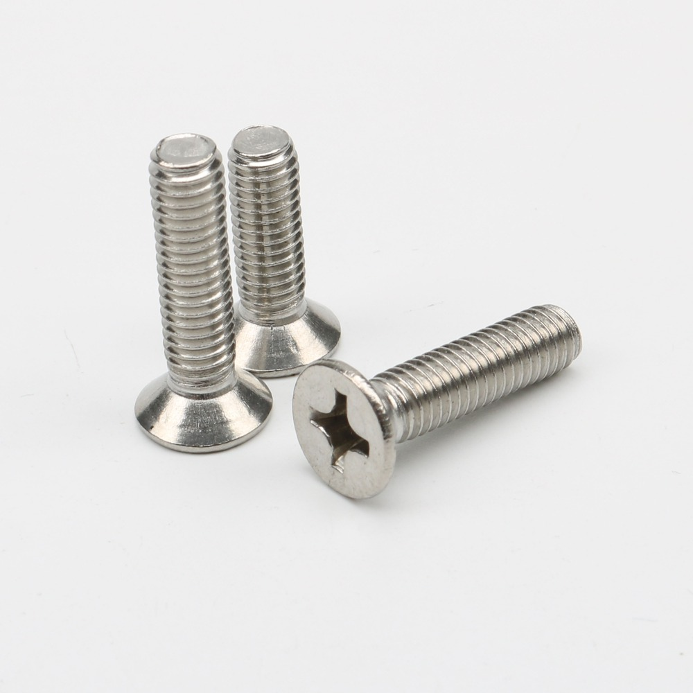 Image 3 - HCSSZP 100 Pcs/Lot M4/M5/M6 Flat Head Screws GB819 Nickel Plated Machine Countersunk Bolt Fastener Phillips Screw Free Shipping-in Marine Hardware from Automobiles & Motorcycles
