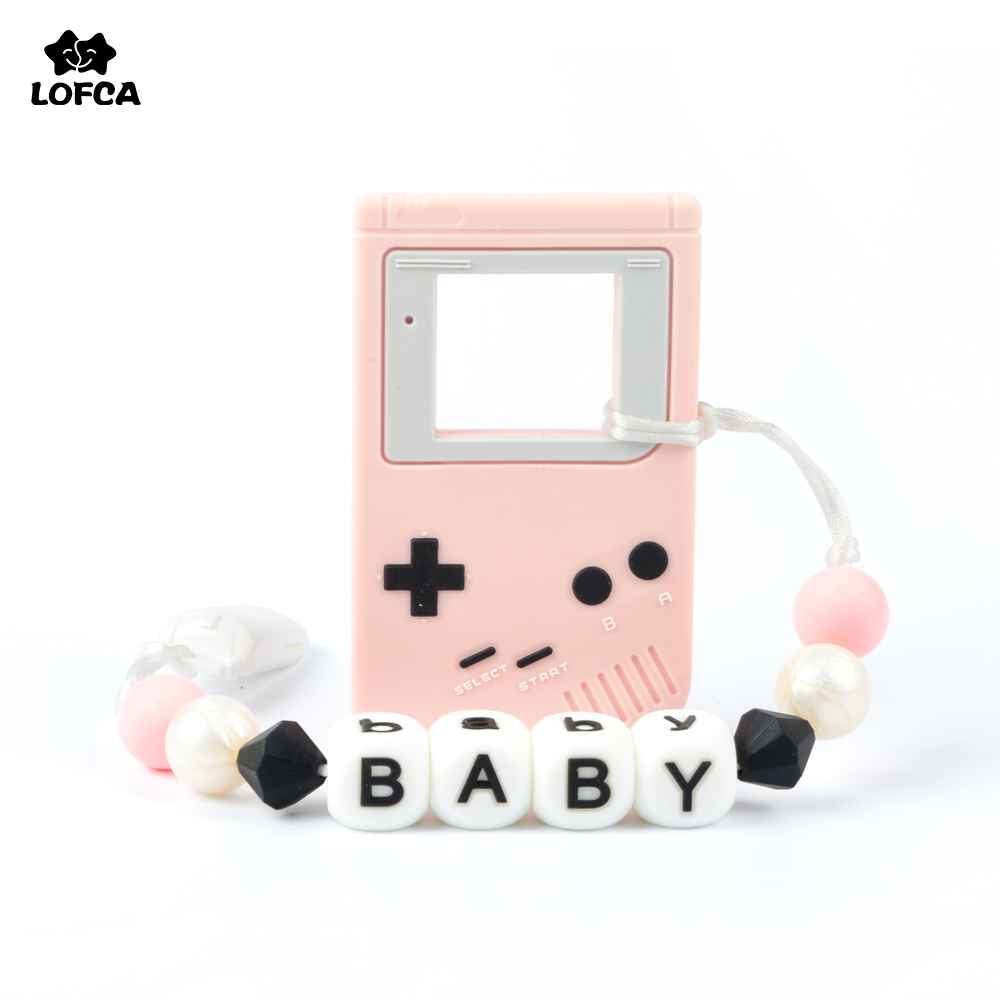 Pacifier Clip Personalized Gameboy Silicone Baby Teething Pendant Necklace Teether For DIY Trendy Baby Oral Care Pacifier ClipsPacifier Clip Personalized Gameboy Silicone Baby Teething Pendant Necklace Teether For DIY Trendy Baby Oral Care Pacifier Clips