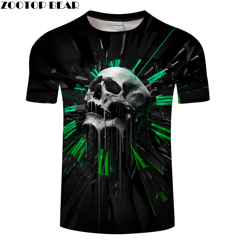 Skull Printed 3D T shirt Men Women T-shirts Brand Tops Casual Tees Novelty Streetwear Fashion T shirts Drop Ship 6xl ZOOTOP BEAR