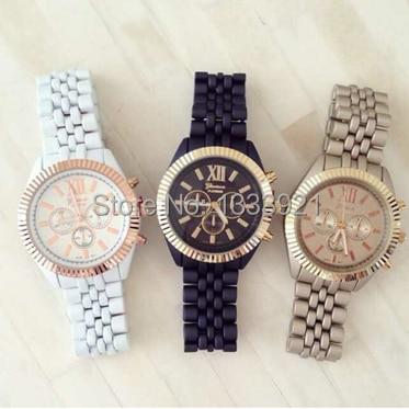 2015 geneva quartz watch classy matte bracelet watches women fashions