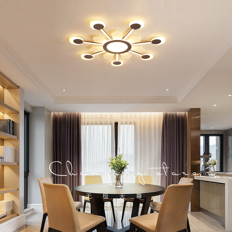 New Arrival coffcecolor Finish Modern Led Ceiling Lights For Living Room Master Bedroom Fixtures AC85 265V
