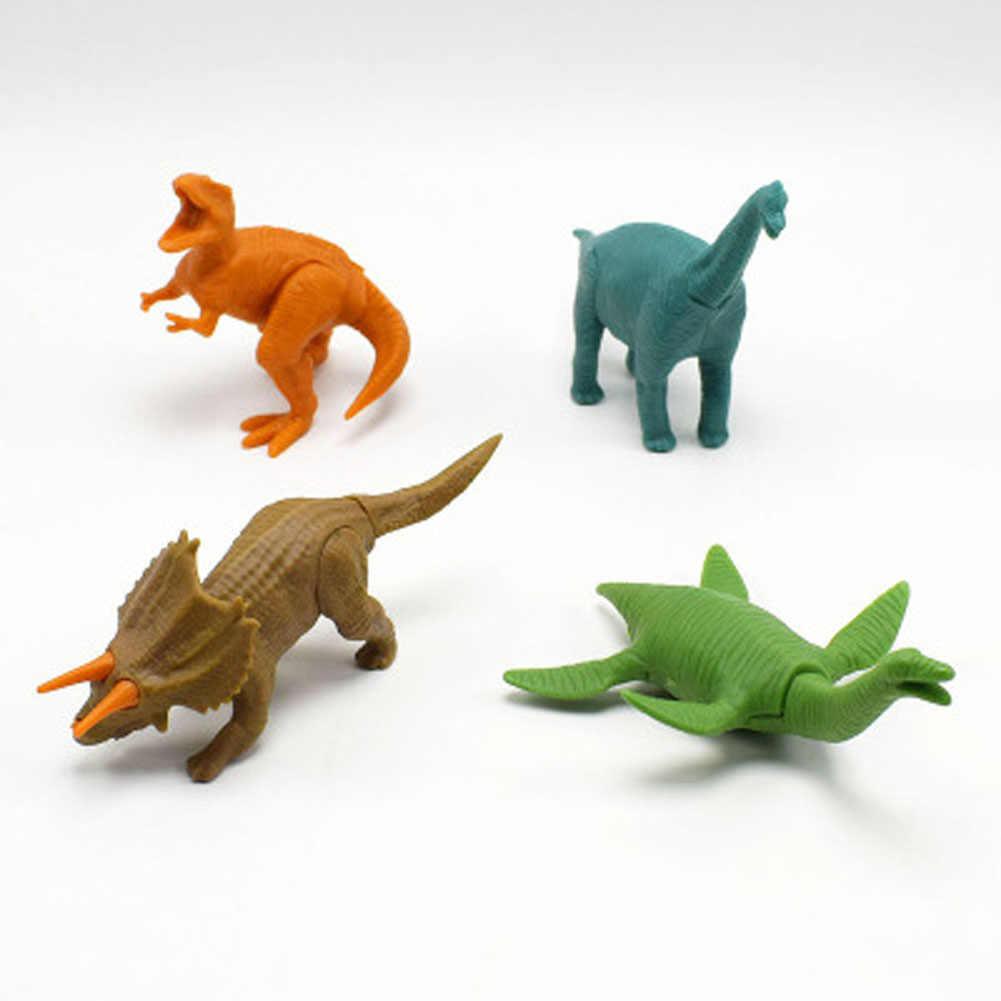 1PC Colore Casuale Divertente Dinosauri Figura del Giocattolo di DIY Building Blocks Set Modello di Giocattoli Per Bambini Regali Chiarisca Figure Giocattoli Per bambini