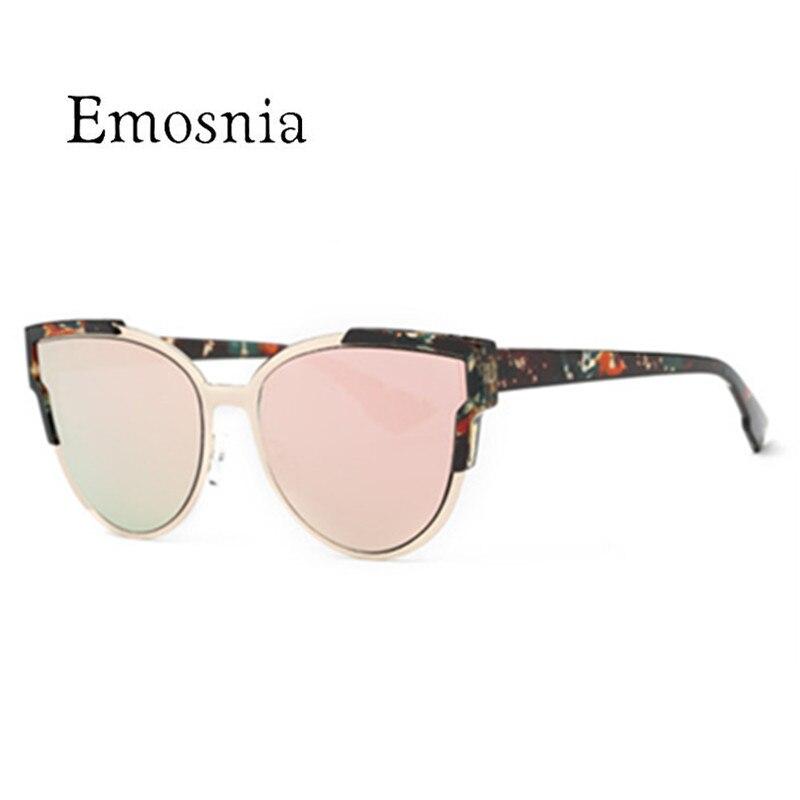 2018 nuevo Ojo de Gato de sol mujeres Color teñido lente Vintage forma gafas de sol diseñador de la marca