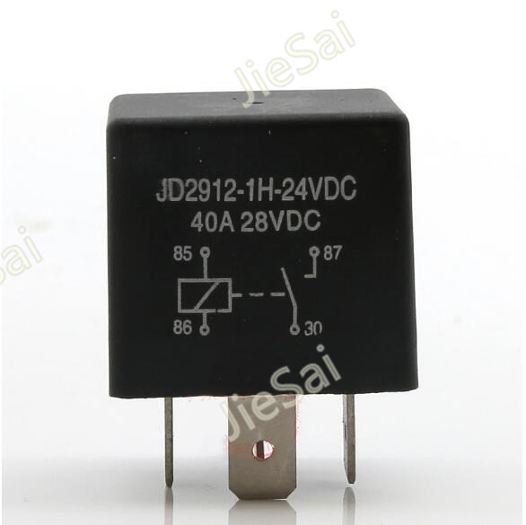 High Quality Normally Open Car Relays 4 Pin 12v 24v 40A Auto Relay for Auto Replacement Parts