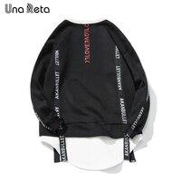 Una Reta Sweatshirts Men New Fashion Mens Hoodies And Sweatshirts Hip Hop Style Streamer O Nekc