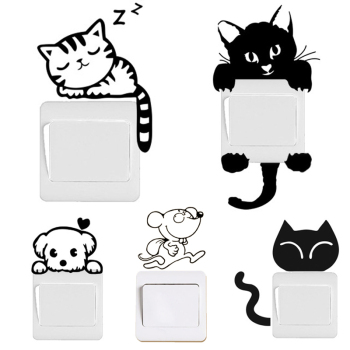 Black Cat & Dog Rat Mouse Switch Decals 17*7cm