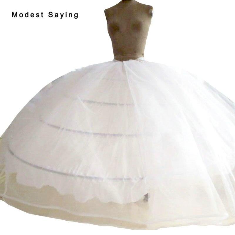 Высокое качество, 4 подъюбника, супер большой бальный наряд, свадебные платья 2018, свадебные аксессуары, кринолин