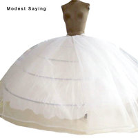 High Quality 4 Hoops Petticoat Underskirt For Super Big Ball Gown Wedding Dresses 2018 Bridal Gowns Wedding Accessory Crinoline