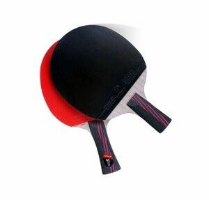 Image 3 - Lemuria Professional Carbon Fiber Table Tennis Racket Double Face Pimples in Rubber 2.15MM Sponge FL Or CS Handle Ping Pong Bat