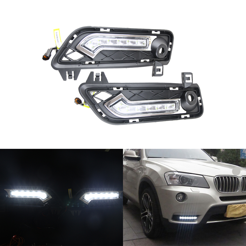 CAR Specific LED DRL Driving Daytime Running Day Light Lamp For BMW X3 F25 2010-2014 front parking drl turn signal light