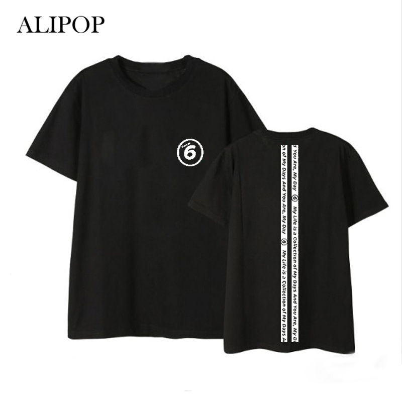 ALIPOP Kpop DAY6 Every Day6 In July Album Shirts Hip Hop Casual Loose Clothes Tshirt T Shirt Short Sleeve Tops T-shirt DX526