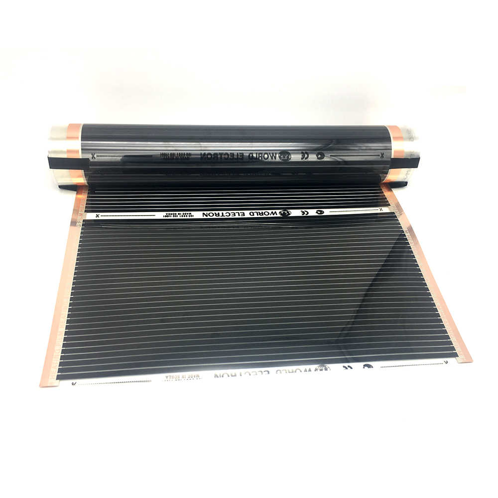Minco heat AC220V 50cm szerokość 280 w/m2 podczerwieni węglowa folia grzewcza podłogowa z akcesoriami