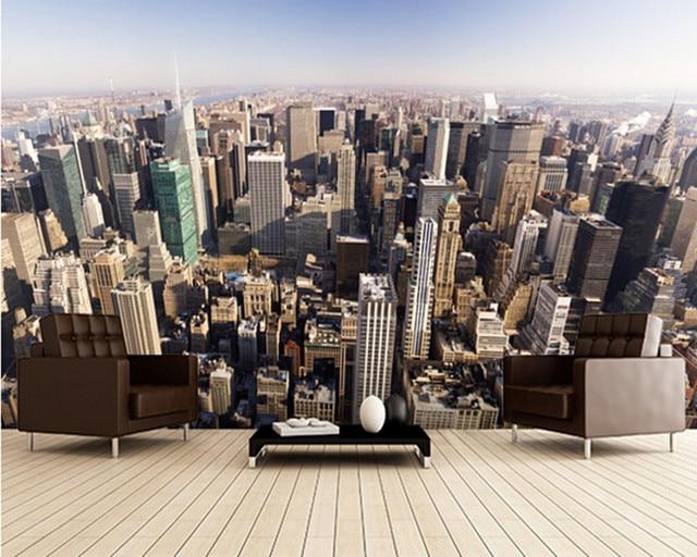 Papel pintado de encargo de la foto. Nueva York. moderno 3D ...